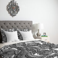 <strong>DENY Designs</strong> Valentina Ramos Bird in Flowers Black White Duvet Cover Collection