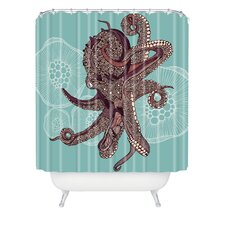 <strong>DENY Designs</strong> Valentina Ramos Polyester Octopus Bloom Shower Curtain