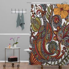 Valentina Ramos Woven Polyester Paradise Bird Shower Curtain