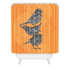 <strong>DENY Designs</strong> Valentina Ramos Polyester 3 Little Birds Shower Curtain