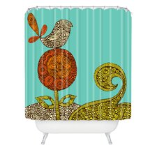 Valentina Ramos Polyester Bird in The Flower Shower Curtain