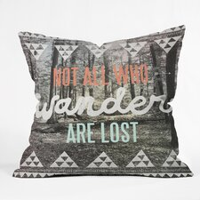 <strong>DENY Designs</strong> Wesley Bird Wander Indoor/Outdoor Polyester Throw Pillow