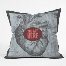 <strong>DENY Designs</strong> Wesley Bird You Are Here Indoor/Outdoor Polyester Throw Pillow