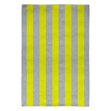 Holli Zollinger Bright Yellow/Grey Stripe Area Rug
