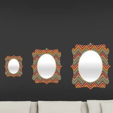 Amy Sia Tribal Chevron Quatrefoil Mirror