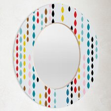 <strong>DENY Designs</strong> Khristian A Howell Nolita Drops Oval Mirror