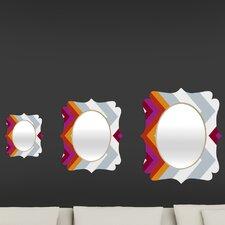 Karen Harris Modernity Solstice Warm Chevron Quatrefoil Mirror