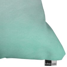 Social Proper Mint Ombre Polyester Throw Pillow