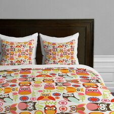 Valentina Ramos Cute Little Owls Microfiber Duvet Cover