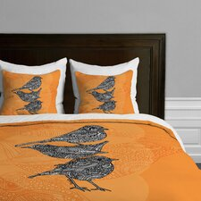 Valentina Ramos 3 Piece Little Birds Microfiber Duvet Cover Set
