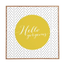 Hello Gorgeous by Allyson Johnson Framed Textual Art Plaque
