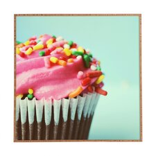 Pink Cupcake by Allyson Johnson Framed Photographic Print Plaque