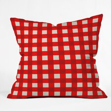 Holli Zollinger Red Gingham Outdoor Throw Pillow