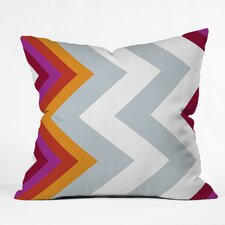 Karen Harris Modernity Solstice Warm Chevron Outdoor Throw Pillow