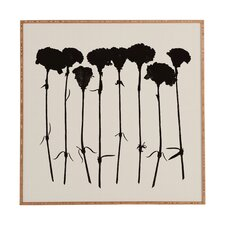 Carnations by Garima Dhawan Framed Graphic Art Plaque in Black
