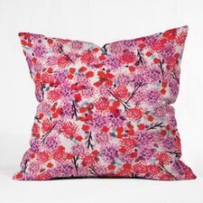 Joy Laforme Floral Forest Outdoor Throw Pillow
