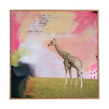 Abstract Giraffe by Natalie Baca Framed Graphic Art Plaque