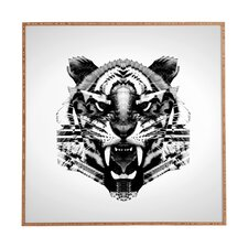 Tiger 4040 by Three of Thee Possessed Framed Graphic Art Plaque