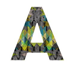 Pattern State Arrow Night Hanging Initial