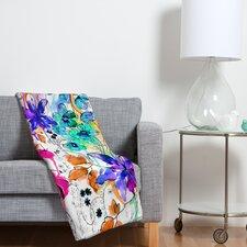 Holly Sharpe Lost in Botanica 1 Polyester Fleece Throw Blanket