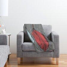 Wesley Bird Feathered Polyester Fleece Throw Blanket