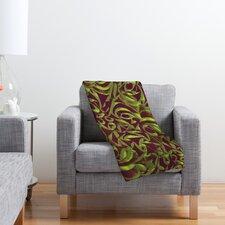 Wagner Campelo Abstract Garden Polyester Fleece Throw Blanket