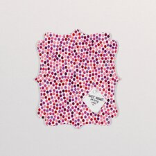 Garima Dhawan Dots Watercolor Dots Berry Quatrefoil Bulletin Board