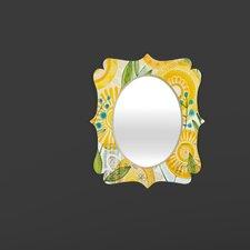 Cori Dantini Sun Burst Flowers Quatrefoil Mirror