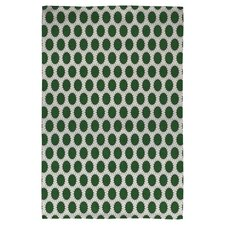 Holli Zollinger Pincushion Dot Green Geometric Area Rug