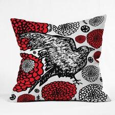 Julia Da Rocha Raven Rose Throw Pillow