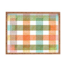 Zoe Wodarz Pastel Plaid Rectangle Tray
