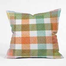 Zoe Wodarz Pastel Plaid Throw Pillow