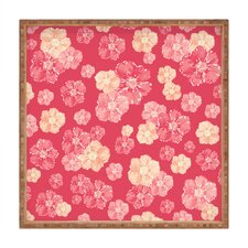 Lisa Argyropoulos Blossoms On Coral Square Tray