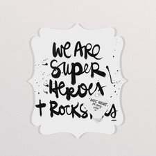 Kal Barteski Superheroes Quatrefoil Memo Board