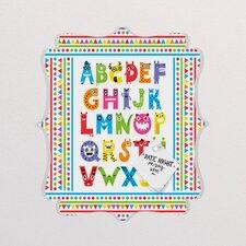 Andi Bird Alphabet Monsters Quatrefoil Magnet Board