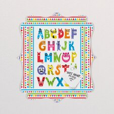 Andi Bird Alphabet Monsters Quatrefoil Memo Board