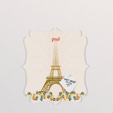 Jennifer Hill Paris Eiffel Tower Quatrefoil Memo Board