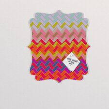 Sharon Turner Geo Chevron Quatrefoil Bulletin Board