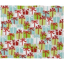 Andrea Victoria Jolly Gifts Plush Fleece Throw Blanket