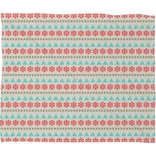 Allyson Johnson Holiday Style Plush Fleece Throw Blanket