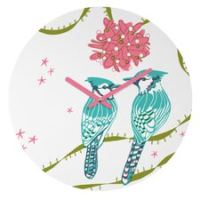 Betsy Olmsted Holiday Birds Wall Clock