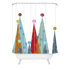 Brian Buckley Winter Peaks Woven Polyester Shower Curtain