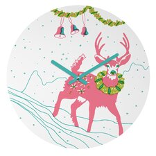 Betsy Olmsted Holiday Deer Wall Clock