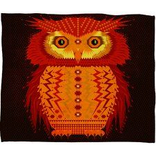 Chobopop Geometric Owl Plush Fleece Throw Blanket