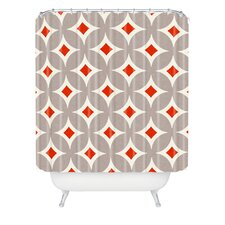 Holli Zollinger Vermillion Diamond Woven Polyester Shower Curtain