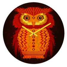 Chobopop Geometric Owl Wall Clock