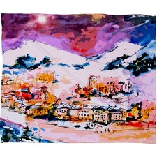 Ginette Fine Art Winter Star Plush Fleece Throw Blanket