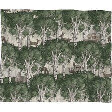 Belle13 My Deer Secret Forest Plush Fleece Throw Blanket