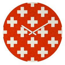 Holli Zollinger Vermillion Plus Wall Clock