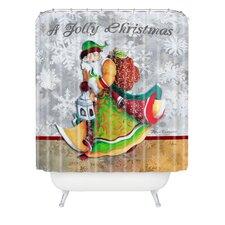 Madart Inc A Jolly Christmas Woven Polyester Shower Curtain